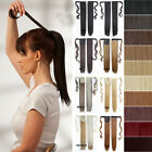 Mega Long Clip In Hair Extension Wrap Around Clip On Ponytail Hair 100% Natural