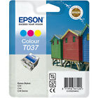 GENUINE EPSON T037 BEACH HUT SERIES TRI COLOUR INK CARTRIDGE (C13T03714010)