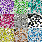 1000Pcs 3mm Facets Resin 16 Colors Rhinestone Gems Flat Beads Charms DIY Gift