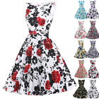 Vintage Retro 50s 60s Housewife Swing Pinup Formal Party Prom Dresses