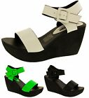 Ladies BETSY Platform Wedge Sandals Womens Summer Casual Shoes Size 3 4 5 6 7 8
