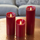 Red Mirage Wax Battery Operated Dancing LED Flame Xmas Party Wedding Candles