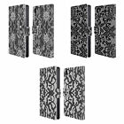 HEAD CASE DESIGNS BLACK LACE LEATHER BOOK WALLET CASE COVER FOR SONY PHONES 1