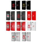 LIVERPOOL FC CREST 2 LEATHER BOOK WALLET CASE COVER FOR APPLE iPHONE PHONES