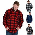 Mens Colorado Check Soft Fleece Lumberjack Warm Winter Gents Casual Work Shirt