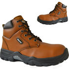 MENS SAFETY STEEL TOE CAP BOOTS DICKIES ANKLE HIGH HIKER WORK LEATHER SHOES SIZE