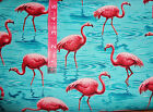 Pink Flamingo Paradise By The yard cotton print  Blank Textiles