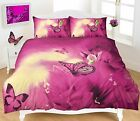 Butterfly Plum New Duvet Quilt Cover Pillow Case Bedding Set in All UK Sizes