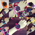 Womens Fashion Jelly Watch Big Dial Silicone Rubber Quartz Wristwatch