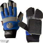 "LUSH ""Freeride"" Slide Gloves Skateboard Longboard BLUE Downhill Race Protection"