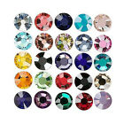 12 Swarovski Shiny Foil Flat Back Loose Rhinestone Crystals Sizes Small - Big