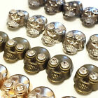 Iron-on Hot-Fix Metal Skull Studs with Diamante/Diamonds shoes Bags Belts Jeans