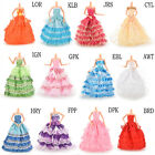 Handmade Party Doll's Dress Clothes Princess Wedding Clothes For Barbie Doll UJR