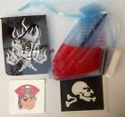 Pirate Glitter tattoo kit, necklace  party/stocking filler or Christmas gift 2