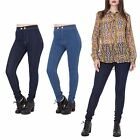 Womens Mid Waist Stretch Contrast Stitch Denim 90s Super Slim Skinny Jeans
