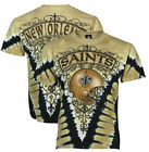 New Orleans Saints V-Dye Liquid Blue NFL T Shirt   SHIPS FREE