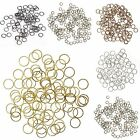 Lots 300/2000pc Silver/Gold Plated Open Metal Jumping Rings Finding 4/6/8mm