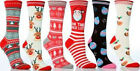 Womens Girls Christmas Socks Novelty Festive Fun 1 Pair Size 4-8 UK  Free P&P