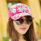 Fashion Women Outdoor Baseball Cap Summer Ladies Travel Casual Rose Pattern Hats