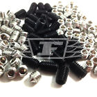 MIXED 20 PIECE M3 M4 M5 M6 SOCKET GRUB SCREWS CUP FLAT CONE STAINLESS / BLACK