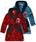Boys Spiderman Dressing Gown Kids Marvel Soft Blue Red Bath Robe Age 3 - 8 Years