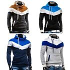 Mens Casual Jackets Slim Fit Hoody Coat Sweatshirt Jacket Hoodies Top Size S-XXL