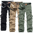 Mens 2015 Camouflage Military Army Cargo Combat Work Pants Loose Trousers 28-40