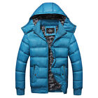 New Men's Thick Cotton Coat Padded Jackets hooded jacket detachable cap 3 Colors