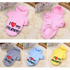Cute Small Pet Dog Coat Clothes Warm Puppy Hoodie Apparel Pink Blue Yellow Grey