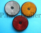FREE P+P* 60mm Round Reflectors Driveway Fence Gate Post & Trailers Caravans