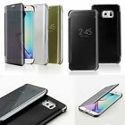 Mirror Smart View Clear Flip Phone Case Cover For Samsung Galaxy S6 EDGE PLUS +