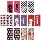 HEAD CASE DESIGNS CATS AND DOTS LEATHER BOOK WALLET CASE FOR SAMSUNG PHONES 2