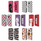 HEAD CASE DESIGNS CATS AND DOTS LEATHER BOOK WALLET CASE COVER FOR HTC PHONES 1