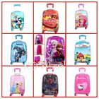 "New Girls Boys cartoon Trolley Case Wheeled Suitcases Rolling Luggage 18"" and19"""