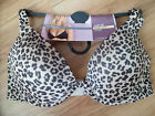 NEW WITH TAGS PUSH UP PLUNGE SCOOP NECK BRA M&S ANIMAL PRINT
