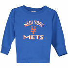 Soft as a Grape New York Mets Toddler Royal Long Sleeve Arch Shadow T-Shirt