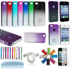 New Colorful 3D Rain Drop Clear Crystal Hard Case Cover Skin For iPhone 4 4G 4S