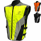 Black Hi-Vis Reflective Motorcycle Vest Motorbike Waistcoat Commuter Bike Jacket