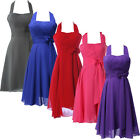 Vintage 50s Chiffon Evening Cocktail Party Formal Bridesmaid Short Prom Dresses