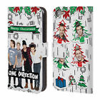 OFFICIAL 1D PHOTO DOODLE CHRISTMAS LEATHER BOOK CASE FOR APPLE iPOD TOUCH MP3