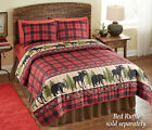 Collections Etc Woodland Cabin Moose Quilt
