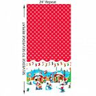 JOLLY HOLLY GNOMES BORDER PRINT - MICHAEL MILLER 100% COTTON CHRISTMAS FABRIC