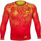 Venum Fusion Long Sleeve Compression Shirt (Orange/Yellow)
