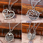 Sister Mother Family Best Friend Love Cool Pendant Necklace Jewelry Gift HOAU#
