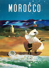 Morocco Arabic Arab Africa Country Travel Tourism Vintage Poster Repro FREE SH