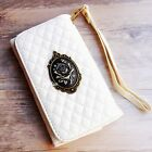 Rose WHITE phone Sleeve case Flower Wallet Purse cover For iPhone 4 5C 6 6S plus