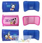Disney Mickey Minnie Mouse Wallet Kids Coin Purse Tri-Fold Bag Licensed (1pc)