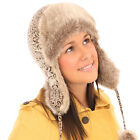 QUALITY LADIES RUSSIAN FAUX-FUR TRAPPER COSSACK SKI WINTER HAT
