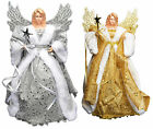 Christmas Tree Topper Fairy Angel Decoration Treetop Ornaments Gold Or Silver