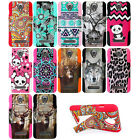 ZTE Obsidian Z820 Dual Layer T-Stand Impact Armor Hybrid Cover Case + Film